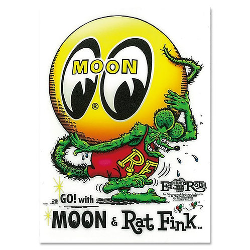 STICKER  RAT FINK RATFINK MOONEYES  EYEBALL  STICKER Mr Wildman Design