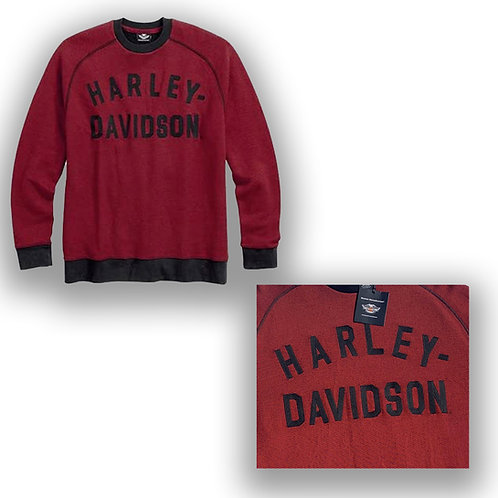 Harley Davidson Pullover Hoodies Jacket vintage ispirato Red 96498–17VM