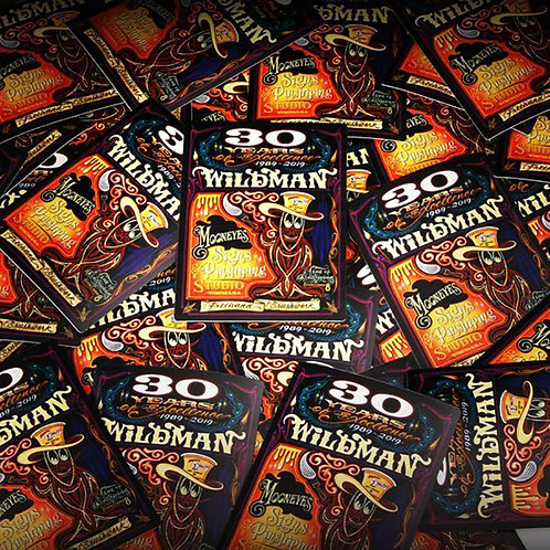 "STICKERS DECAL SPECIAL EDITION Hiro ""Wildman"" Ishii 30th Anniversary"