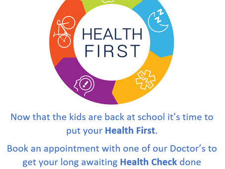Time to put Your Health First