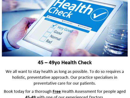 45-49 Year Old Health Check