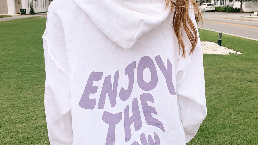Enjoy The Now Lavender Hoodie