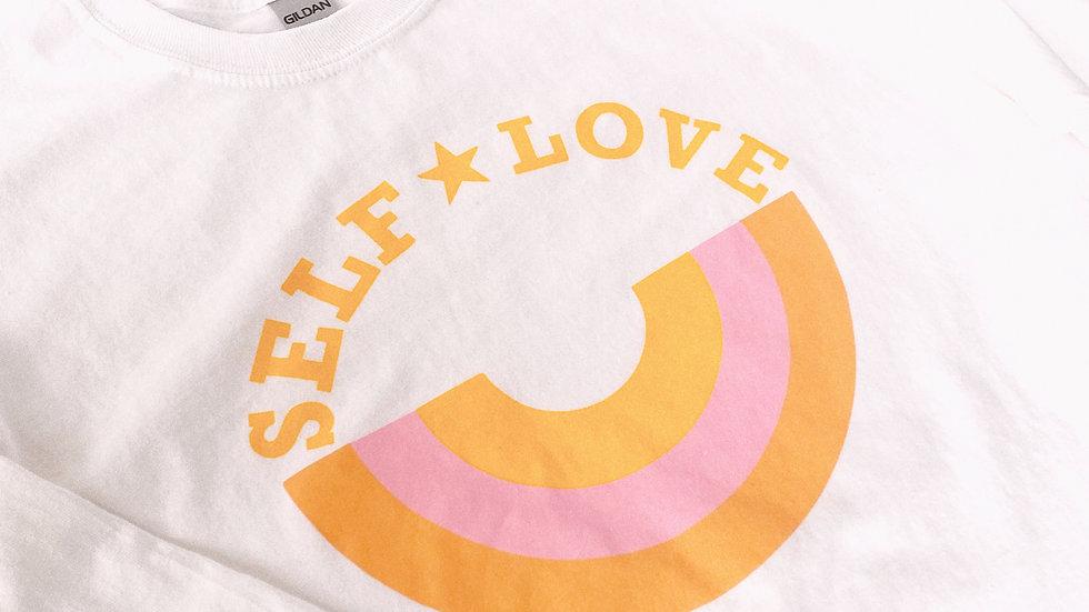 Self Love White Long Sleeve Tee-Shirt
