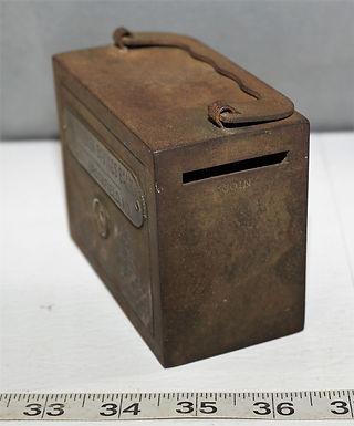Advertising Cast Iron Bank - The Wheeler Savings Bank