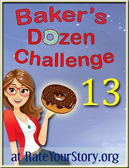 Number 13 badge Baker's Dozen Challenge.