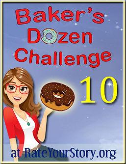 Number 10 badge Baker's Dozen Challenge.
