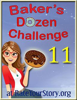 Number 11 badge Baker's Dozen Challenge.