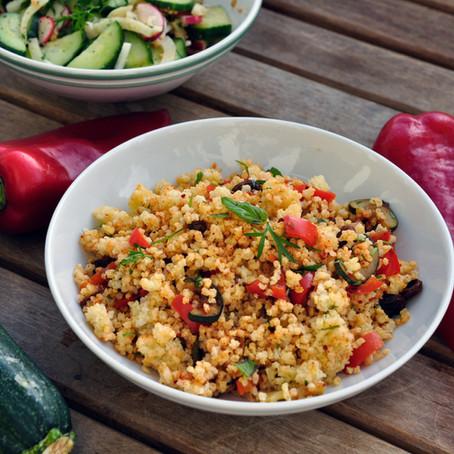 Hirse-Gemüse, warm oder kalt! Pfanne oder Salat?