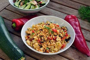 Hirse Gemüse Warm Oder Kalt Pfanne Oder Salat