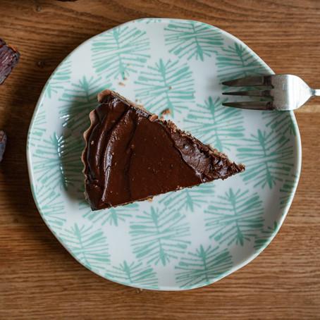 raw vegan Chocolate slice