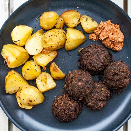 walnut-Portobello-balls :-)