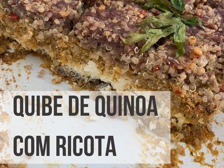 Quibe de Quinoa com Ricota