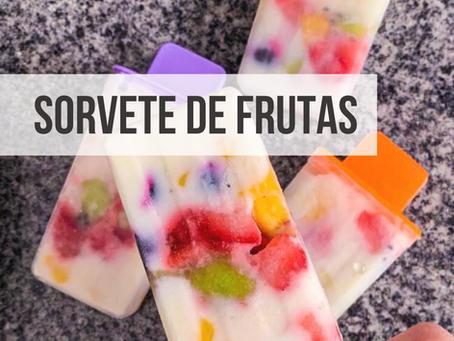 Sorvete de Iogurte com Frutas