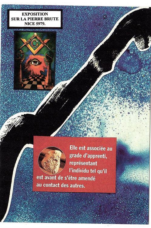 """carte expo """"Pierre brute"""" Nice  franc-maçonnerie"""