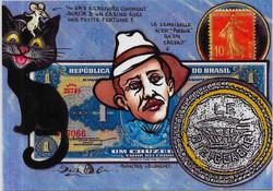 timbre monnaie santos-Dumont