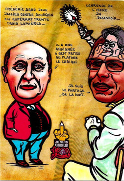 CPM-LARDIE-JIHEL-Bourgoin-Isère-satiriqu