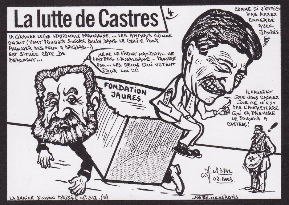 Castres Tarn série de 6 dessins-Jaurès (