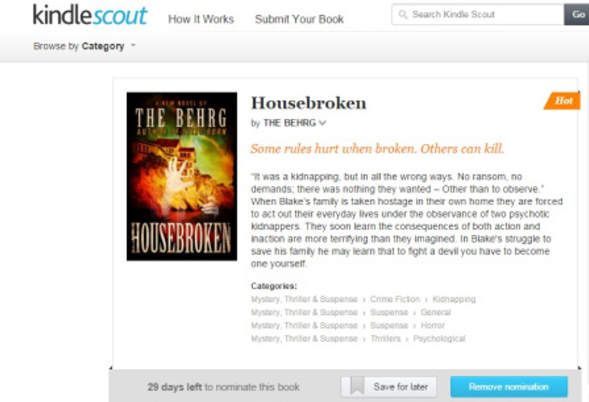 Kindle Scout Screen clip