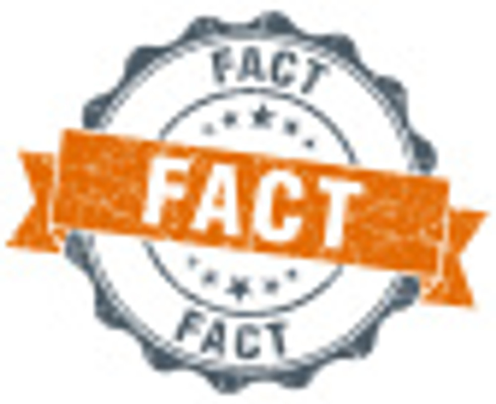 fact orange vintage seal isolated on white