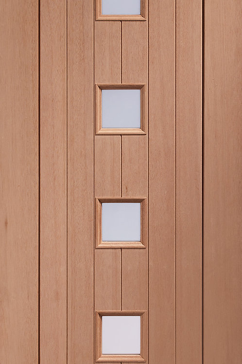 Hardwood Siena with Obscure Glass