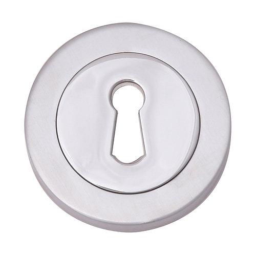 Circular Keyhole Pair of Escutheons