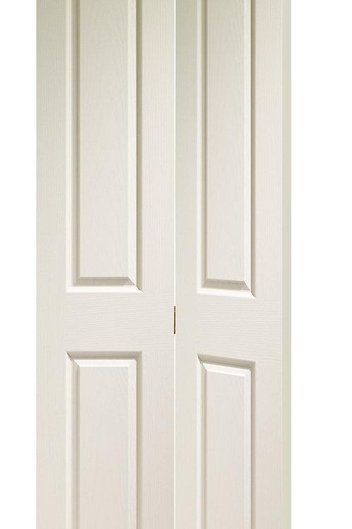 White Primed Victorian 4 Panel Bi-Fold
