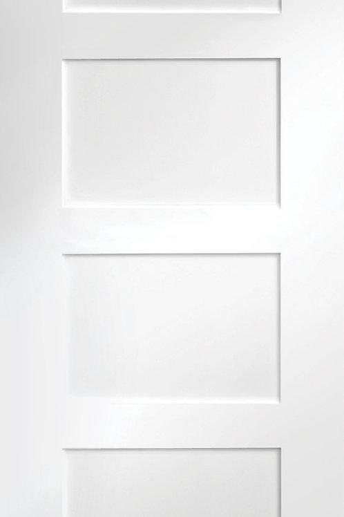 White Primed Shaker 4 Panel