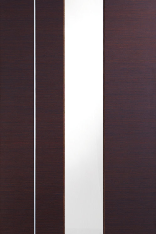 Pre-finished Caserta Wenge with Clear Etched Glass