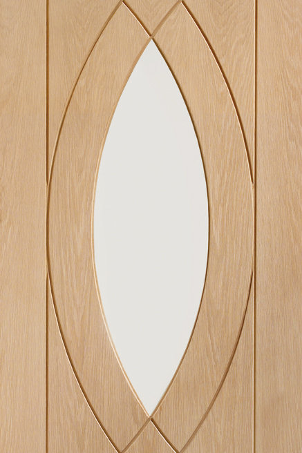 Pre-finished Treviso Oak with Clear Glass