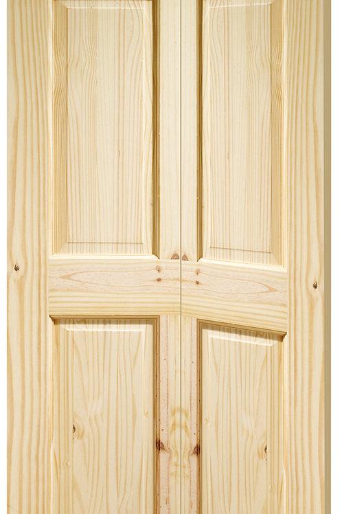 Knotty Pine Colonial 6 Panel Bi-Fold