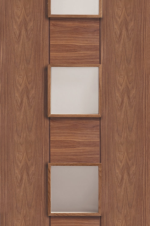 Pre-finished Walnut Messina with Clear Glass