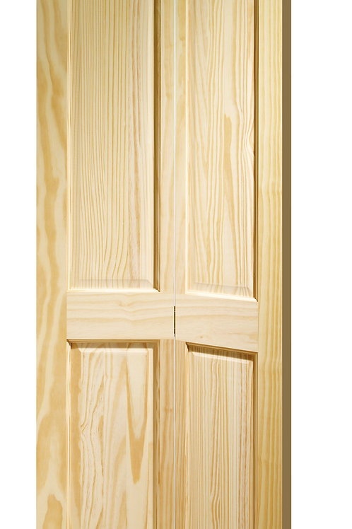 Clear Pine Victorian 4 Panel Bi-Fold