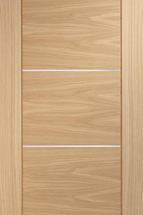 Pre-finished Portici Oak Fire Door