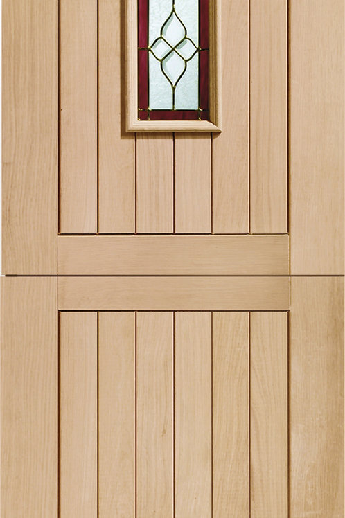 Unfinished Chancery Stable with Brass Caming Oak