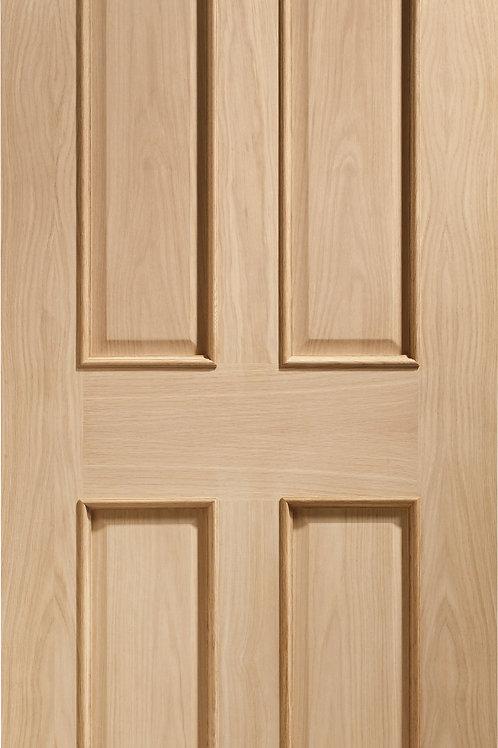 Unfinished Victorian 4 Panel Oak Fire Door