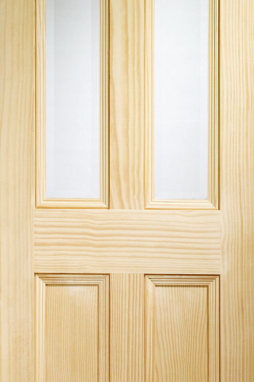 Vertical Grain Pine Edwardian with Clear Glass