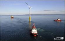 Первый в мире плавучий ветряк уже в работе