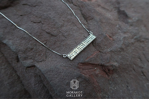 Geometric Necklace, Marcasite Pendant, Geometry pendant, Silver necklace