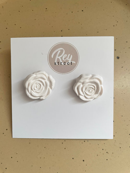 White rose stud