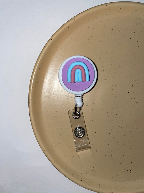 Badge Reel (Purple, Light Pink & Blue)