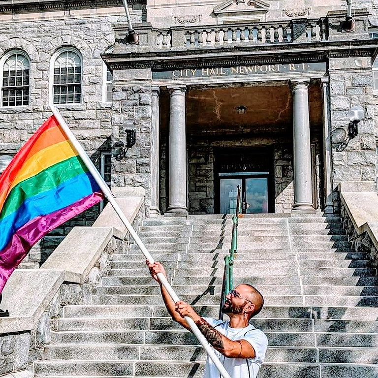 Flag Raising event at Newport City Hall
