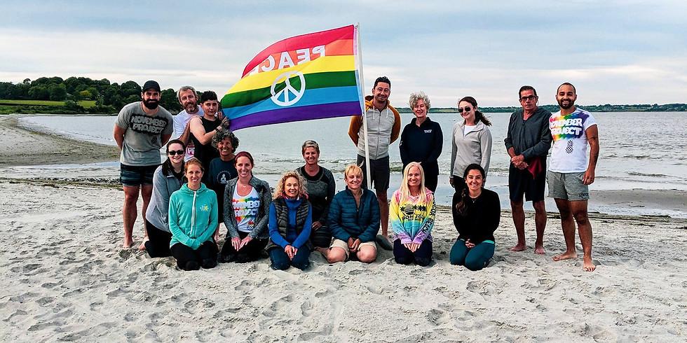Yoga class on the beach!