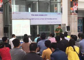 Dự án Home city 177 Trung Kính diễn tập phòng cháy chữa cháy