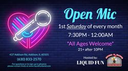 Open Mic with Liquid Fun Band