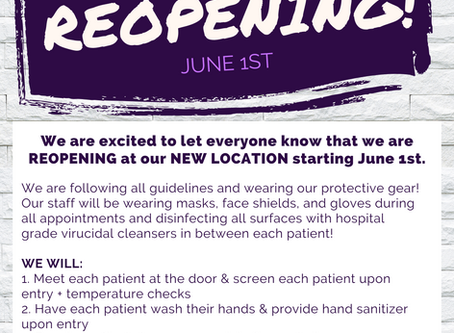 We're Reopening!!!