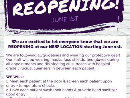 We're Reopening!!!