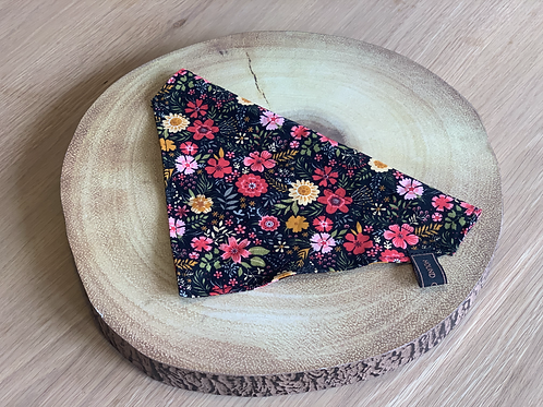 Ebony Winter Floral Bandana