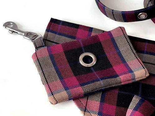 Mulberry Check Doggie Bag Holder