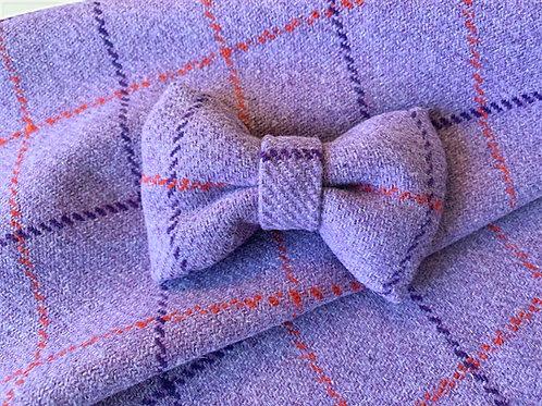 Lilac Check Bow Tie