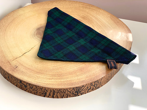 Navy and Emerald Tartan Bandana